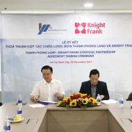 Lễ ký kết thỏa thuận hợp tác chiến lược giữa Thành Phong Land và Knight Frank